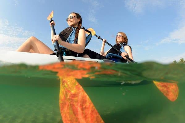 kayaking on de anza cove