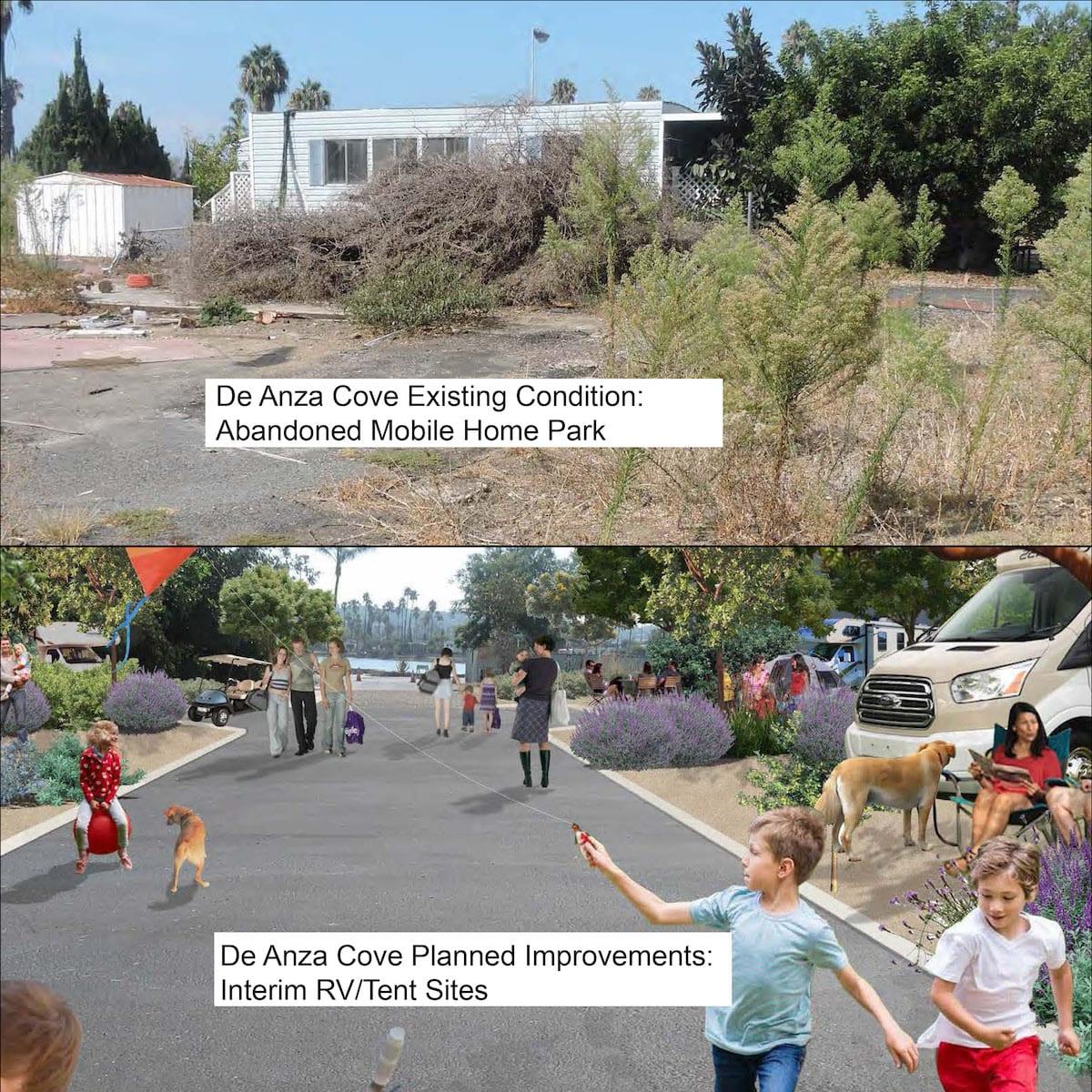 De Anza Cove before & after photos