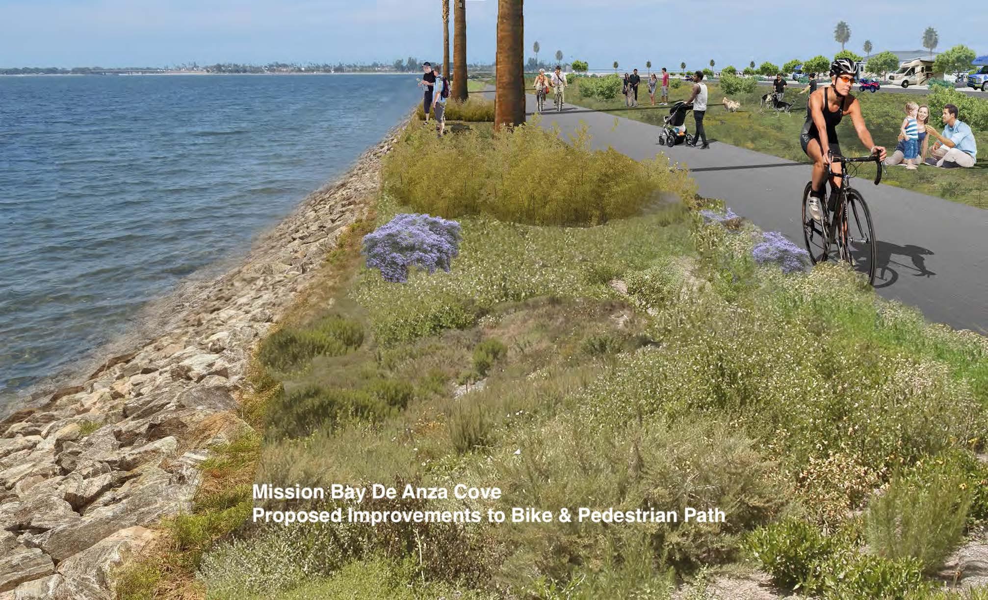 De Anza Cove bike path improvements