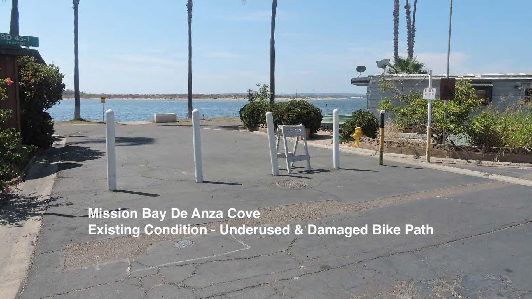 De Anza Coove current bike path cnodition