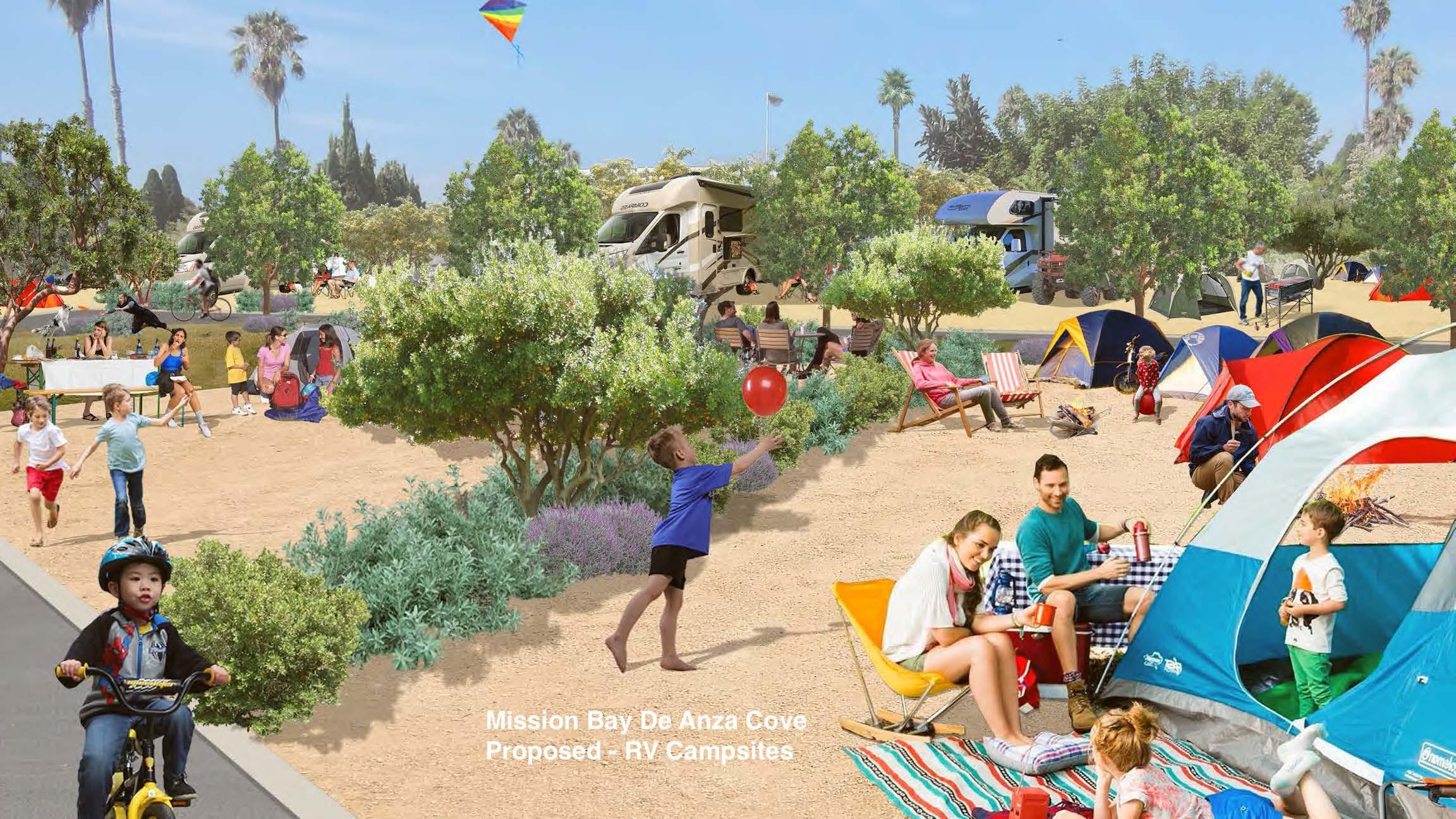 proposed camping at De Anza Cove
